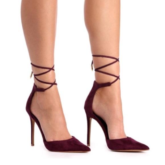 Burgundy Shade Pointy Toe Heel